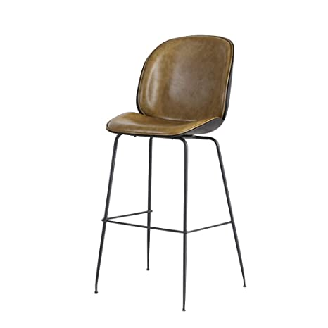Awesome Amazon Com Bar Chair Pu Leather Metal The Edge Is Polished Andrewgaddart Wooden Chair Designs For Living Room Andrewgaddartcom