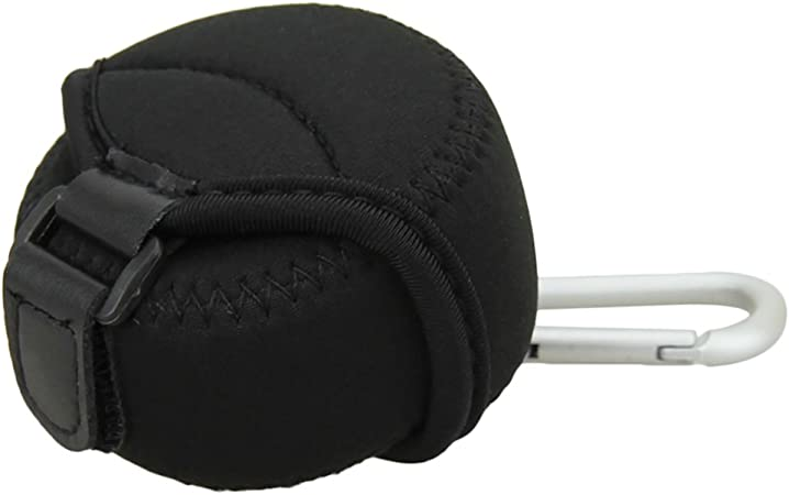 JJC Deluxe Small Neoprene Lens Case Lens Pouch for Mirrorless Lenses up to 62mm x 40mm D x H for Sony E 16mm,Fujinon XF 27mm,Panasonic 14-42mm//12-32mm//14mm,Olympus 14-42mm,Samsung 20mm f2.8