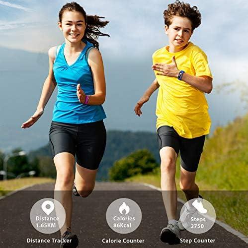 BIGGERFIVE Fitness Tracker Watch for Kids Girls Boys Teens, Activity Tracker, Pedometer, Heart Rate Sleep Monitor, IP68 Waterproof Calorie Step Counter Watch with Alarm Clock, Great Kids Gift 513JAvrgPdL