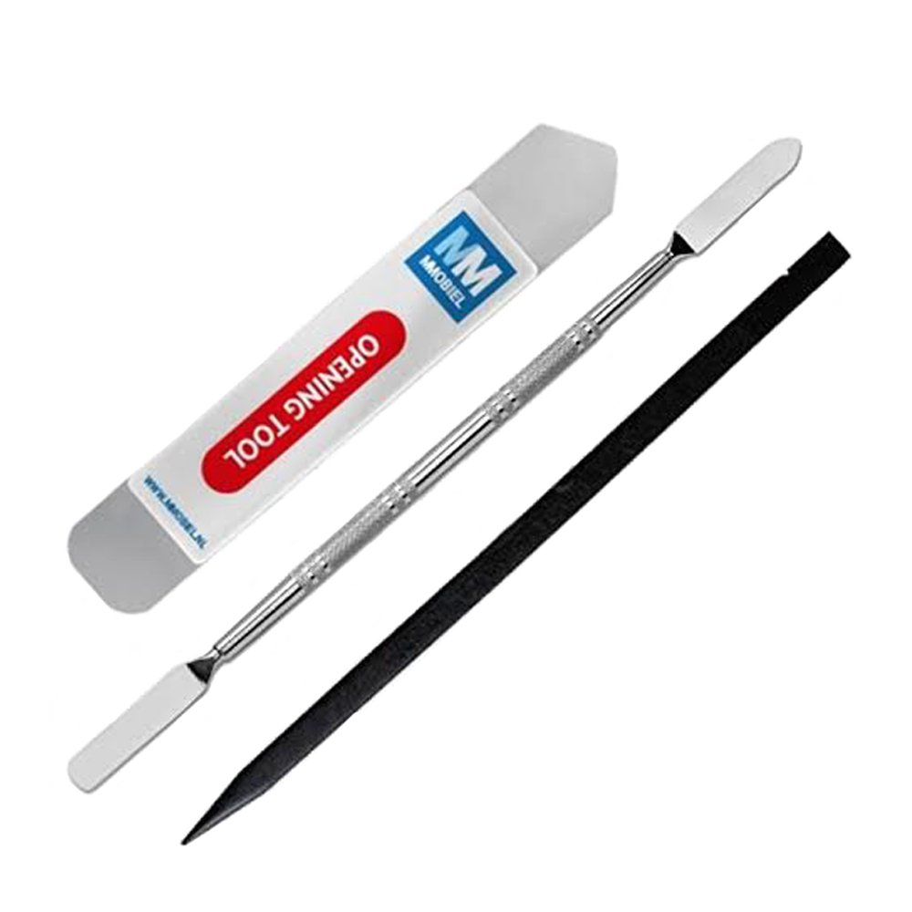 MMOBIEL 3 Pieces Professional Spudger Repair Toolkit: Double Sided Metal Spudger, Flat Spudger and Non-Conductive Nylon Pryer for Repairs on iPhone iPad iPod Notebook Laptop Tablet Mp3-Player Universal