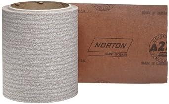 "Norton A275 No-Fil Adalox Abrasive Roll, Paper Backing, Pressure Sensitive Adhesive, Aluminum Oxide, Waterproof, Roll 4-1/2"" Width x 10yd Length, Grit 180 (Pack of 1)"