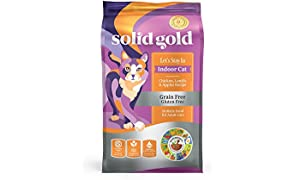 Solid Gold Let's Stay In Indoor Cat Chicken, Lentil & Apple Recipe for Adult Cats; Natural, Holistic Grain and Gluten Free Dry Indoor Cat Food; 12 lb