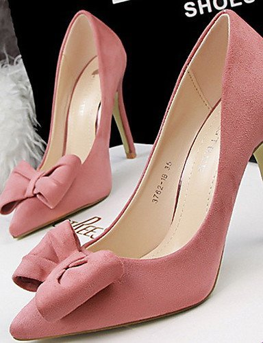Mariage Gris Rouge Rose ShangYi Femme Noir Velours Talon gray Talons Chaussures Talons Habillé Aiguille Yxq0R0ET
