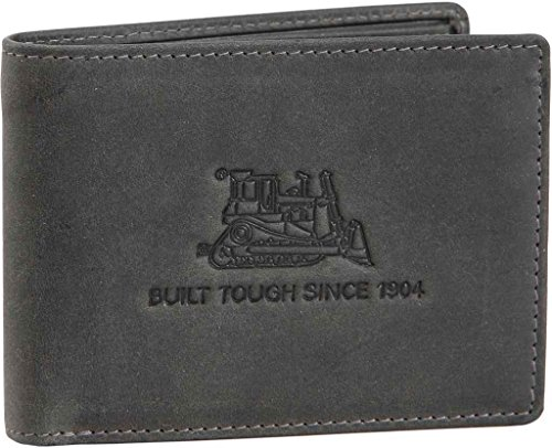 CAT Apparel 80609 Men's Limestone Leather Wallet Antique Grey One Size (Mens Wallets Caterpillar)