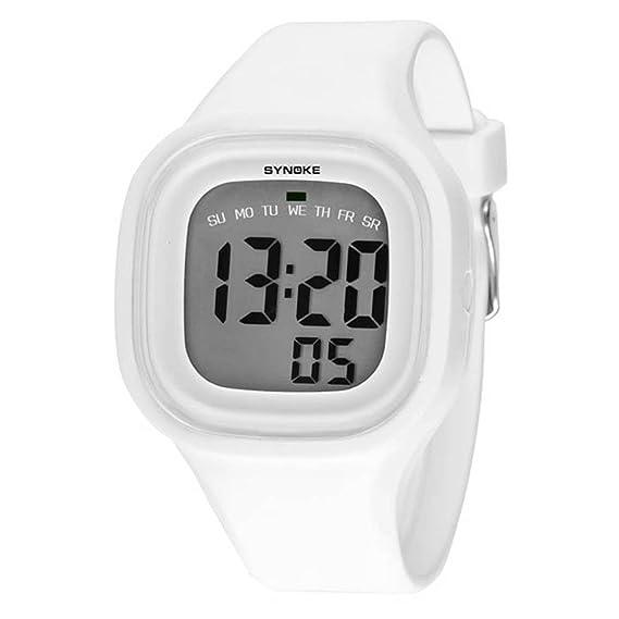 Culater® LED-Reloj digital de silicona infantil para niño, color blanco: Amazon.es: Relojes