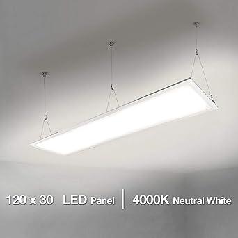 Lighting EVER LE Panel LED 40W=80W Fluorescente Blanco Neutro 4000K 4000 lúmenes, Luz
