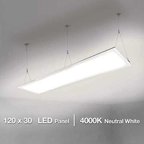 Lighting EVER LE LE Panel LED 40W=80W Fluorescente Blanco neutro 4000K 4000 lúmenes, Luz de techo Oficina Salón Cocina, Rechteck