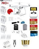 #4: DJI Phantom 4 PRO+ Quadcopter Drone with 1-inch 20MP 4K Camera KIT with Built in Monitor + 3 Total DJI Batteries + 2 64GB Micro SDXC Cards + Reader + Guards + Harness + Range Extender + Charging Hub
