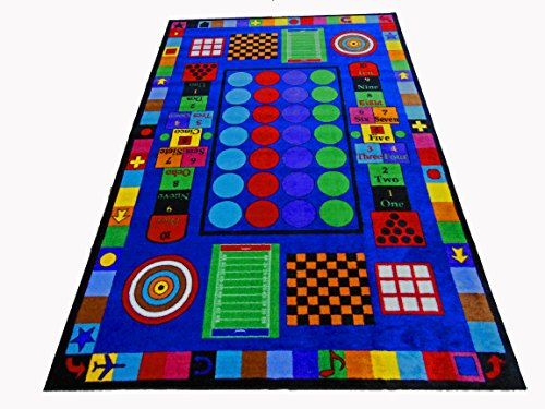 Kids World Carpets Game Time Nylon Machine-tufted Area Rug (8' x 12') by Kids World Carpets