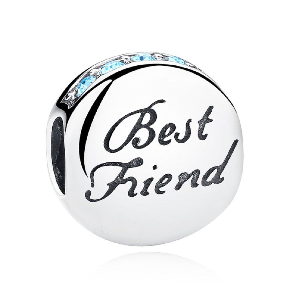 Perle Chengmen Jewellery en argent sterling 925 /«/Best Friend//» compatible avec tous style de bracelet