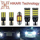 Automotive : HIKARI 1200lm Extremely Bright Error Free Led Bulb Set (921 912 Backup lights + T10 194 168 Interior Bulbs + 1.25'' 31MM DE3175 Festoon Dome Map Door Courtesy License Plate Lights)