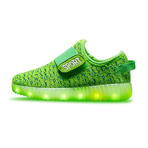 Ouhuang Led Light Up Shoes 11 Colors Flashing Rechargeable Sports Dancing Sneakers for Boys Girls OH28E-34 -