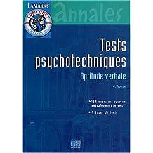 Tests Psychotechniques: Aptitude Verbale (annales)