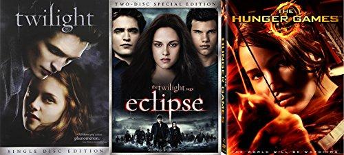 Epic Saga Movie 3-Movie Collection - Twilight, Twilight: Eclipse & The Hunger Games Bundle