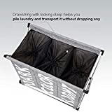 HOMEST Large 3 Section Laundry Hamper Bag with