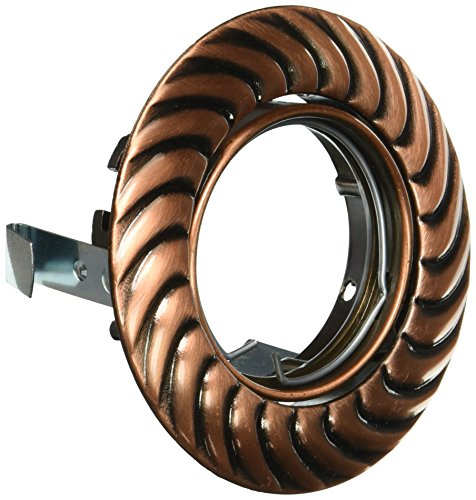 Eurofase TE186-0C 3-Inch Recessed Braid Gimbal Trim, Antique Copper