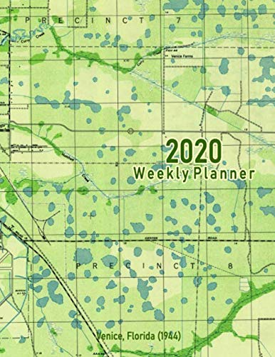 2020 Weekly Planner: Venice, Florida (1944): Vintage Topo Map Cover (Map Venice Antique Of)