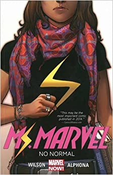Ms. Marvel comic book cover