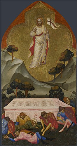 Oil Painting 'Jacopo Di Cione And Workshop The Resurrection ' Printing On High Quality Polyster Canvas , 12 X 23 Inch / 30 X 58 Cm ,the Best Bar Decor And Home Decor And Gifts Is This Cheap But High Quality Art Decorative Art Decorative Canvas