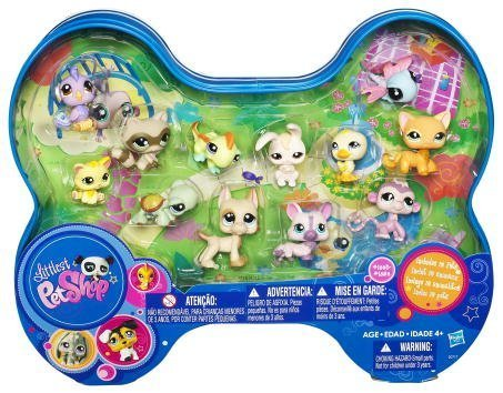 Littlest Pet Shop Exclusive Dog Bone Shaped Tin 12Pack Includes Dragonfly, Raccoon, Great Dane, Turtle More! - Exclusive Littlest Pet Shop