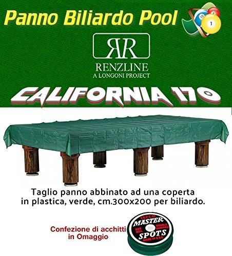 Paño billar Pool Renzi Line by Longoni California cm.260 x 170 ...