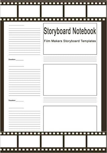 Storyboard Notebook  Film Makers Storyboard Templates  Pages