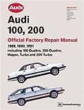 Audi 100, 200 Official Factory Repair Manual, Audi of America, 0837603722