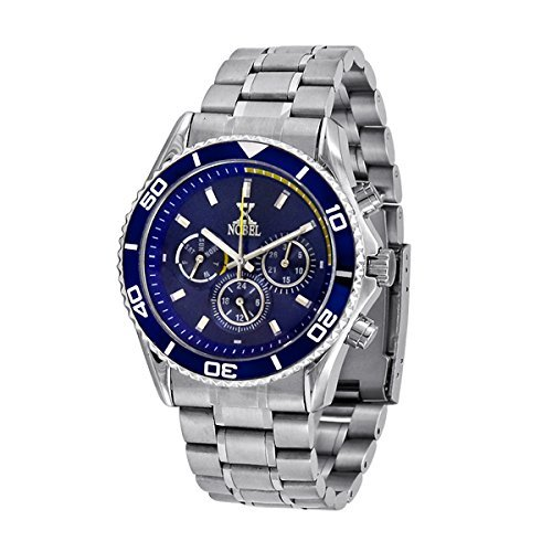 Nobel Men's EZ624GU Chronograph Display Stainless Steel Multi-Function Watch, Christmas Gift for Him