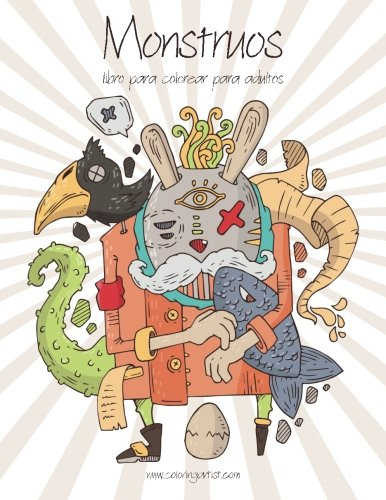 Monstruos libro para colorear para adultos 1 (Volume 1) (Spanish Edition) (Monstruos Halloween Colorear)