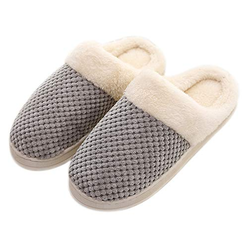 Donna In Donna Caldo Indoor Scarpe Westeng Per Uomo Chiaro Cotone Antiscivolo Adorabile Pantofole Grigio Morbido 43 42 Invernale OX5qP