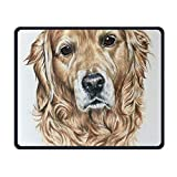 Golden Retriever Watercolor Office Rectangle Non-Slip Rubber Mouse Pad Cool Gaming Mouse Pad for Laptop Displays Tablet Keyboard
