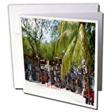 """Image of Haitian Art Market Greeting Card is a great way to say """"thank you"""" or to acknowledge any occasion. These blank cards are made of heavy-duty card stock that allows for smudge free writing. Cards are creased for easy folding and come w..."""