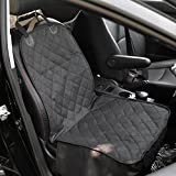 Amzdeal Dog Single Car Seat Covers Front, Pet Seat Cover Protector Back Waterproof, Car Seat Covers for Dogs Pets Travel Outdoor 100*52cm (Black)