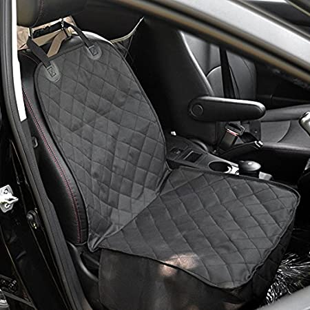 Amzdeal Dog Single Car Seat Covers Front Pet Cover Protector Back Waterproof For Dogs Pets Travel Outdoor 10052cm Black