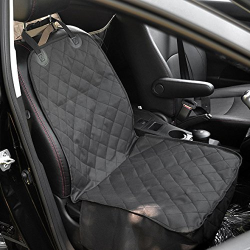 Autoark Dog Car Seat Cover Nonslip Rubber Backing with Anchors Universal