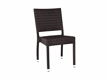 ascot stacking rattan side chair garden dining chair outdoor