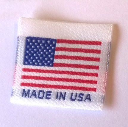 ''Made in USA'' Labels, Center Folded Ready to Sew, 1.25'' x 1.25'' (500 Labels) by Label Weavers