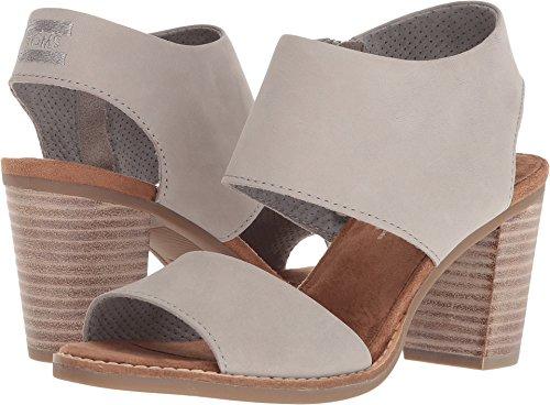 TOMS Women's Majorca Cutout Sandal Drizzle Grey Leather 5.5 B US B (M) -