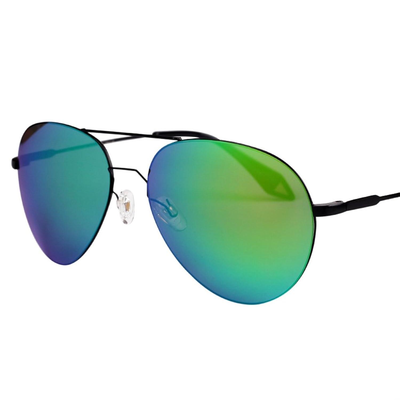 Super bright light metal leg frog mirror/UV protection fashion sunglasses/Reflecting the trend retro sunglasses