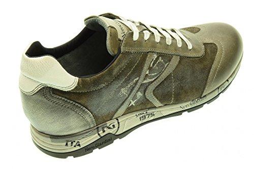 NERO GIARDINI uomo sneakers basse A503770U/120 Cemento Wiki Barato 6XAJFh