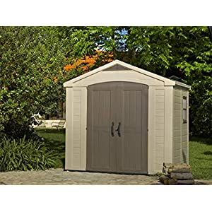 Keter-Factor-Outdoor-Plastic-Garden-Storage-Shed-Beige-8-x-6-ft