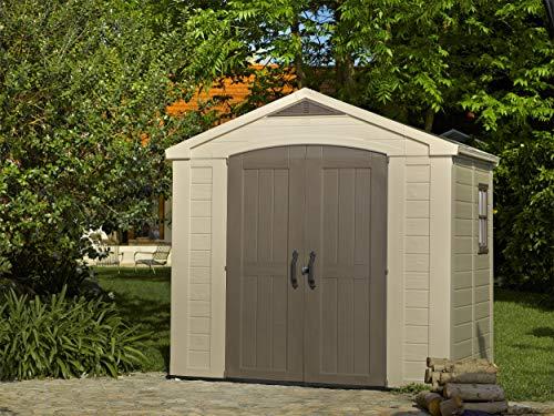 Keter-Factor-Outdoor-Plastic-Garden-Storage-Shed-Beige-8-x-6-ft