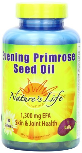 Nature's Life Evening Primrose Seed Oil Softgels, 1300Mg, 100 Count Review