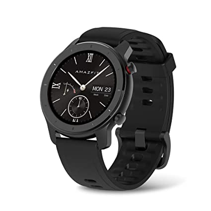 Amazfit GTR Smartwatch, All-Day Heart Rate Monitor, Daily Activity Tracking, 10-Day Battery Life, 12- Sport Modes, 42mm, Starry Black