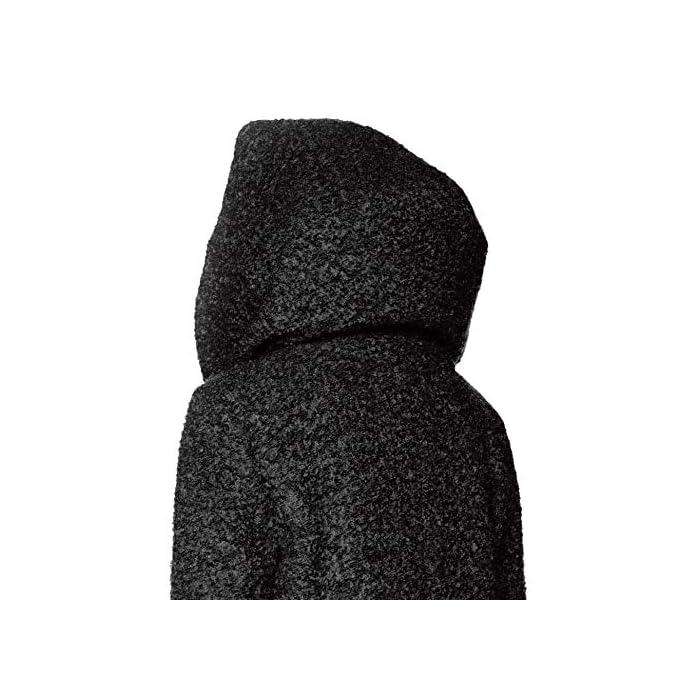 513JJcKsyZL Boucle - Abrigo de lana Con capucha. 55% Poliéster, 45% Lana