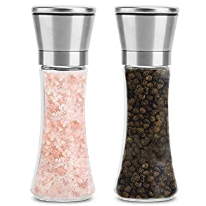 Stainless Steel Pepper Mills and Spice Grinders Kwock Adjustable Manual Ceramic Grinder 7.5x2.6 inch