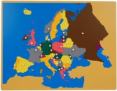 SASeller Montessori Puzzle Map of Europe: Amazon.es: Juguetes y juegos