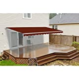 ALEKO AW13X10BURG37 Retractable Patio Awning 13 x 10 Feet Burgundy