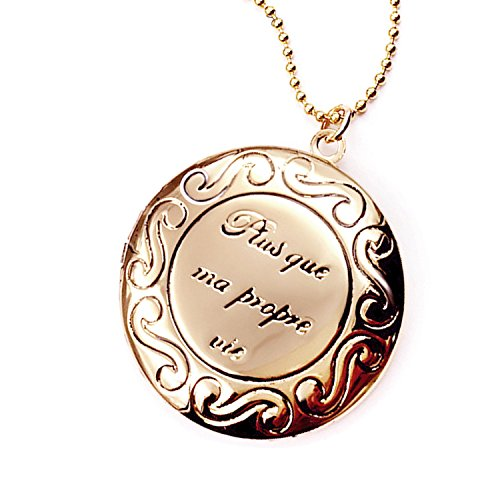 Polished Love Heart Locket Pendant Necklace Engraved