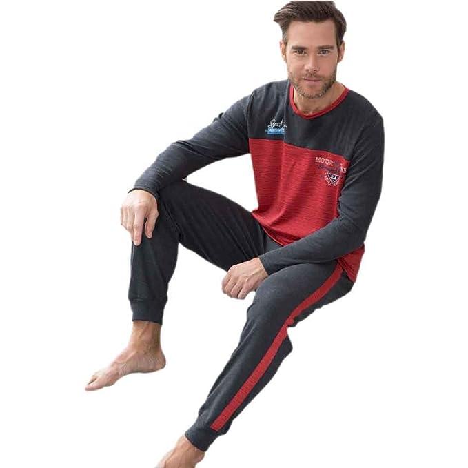 MASSANA Pijama de Hombre Combinado P681304 - Granate, L
